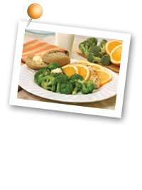 Click to view larger image of Chicken w/Broccoli for Dinner: Fill Half Your Plate with Fruits & Veggies : Fruits And Veggies More Matters.org