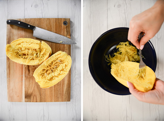 Insider's Viewpoint: A New Way to Use Spaghetti Squash! Green Chili Chicken Enchiladas