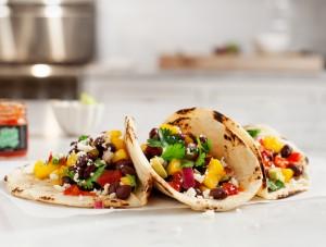 mango habanero black bean tacos