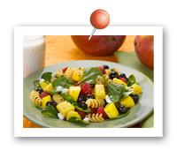 Click to view larger image of Mango Berry Rotini Salad: Fill Half Your Plate with Fruits & Veggies : Fruits And Veggies More Matters.org
