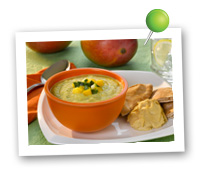 Click to view larger image of Mango Cucumber Soup: Fill Half Your Plate with Fruits & Veggies : Fruits And Veggies More Matters.org