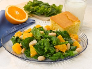 Mixed Greens w/Oranges & Beans