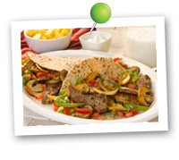 Click to view larger image of Mushroom Steak Fajitas : Fill Half Your Plate with Fruits & Veggies : Fruits And Veggies More Matters.org