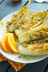 pan seared endive