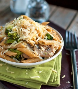 penne with broccoli and mushrooms