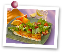 Click to view larger image of Cheese Pizza w/Salad Plate: Fill Half Your Plate with Fruits & Veggies : Fruits And Veggies More Matters.org