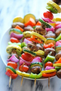 roasted veggie kebabs