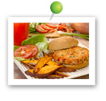 Salmon Burger. Fruits And Veggies More Matters.org