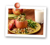 Click to view larger image of Organic Savory Stuffed Apples: Fill Half Your Plate with Fruits & Veggies : Fruits And Veggies More Matters.org