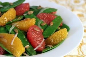 snow peas and citrus salad