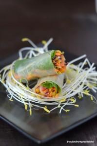 spicey asian slaw summer rolls