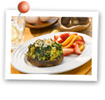 Spinach Quiche Portabella Caps. Fruits And Veggies More Matters.org