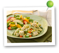 Click to view larger image of Rigatoni w/Chicken & Pesto Plate: Fill Half Your Plate with Fruits & Veggies : Fruits And Veggies More Matters.org