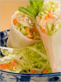 CIA Recipies: Chicken and Vegetable Summer Rolls