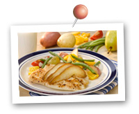 Click to view larger image of Easy Oven Packet Caribbean Tilapia w/Pears & Carnival Roasted Potatoes : Fill Half Your Plate with Fruits & Veggies : Fruits And Veggies More Matters.org