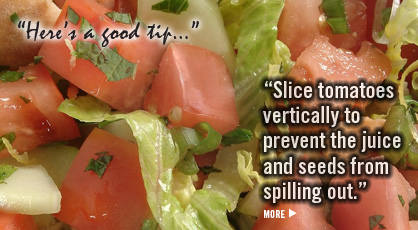 Click for Fresh Tomato & Pita Chip Salad Recipe: Fruits And Veggies More Matters.org