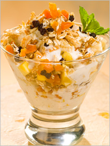 CIA Recipies: Tropical Fruit Parfait with Honey-Vanilla Yogurt