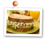 Click to view larger image of Tuna Apple Salad Sandwich : Fill Half Your Plate with Fruits & Veggies : Fruits And Veggies More Matters.org