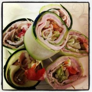 turkey cucumber roll ups