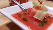 The Everyday Chef: Festive Watermelon + Basil Gazpacho