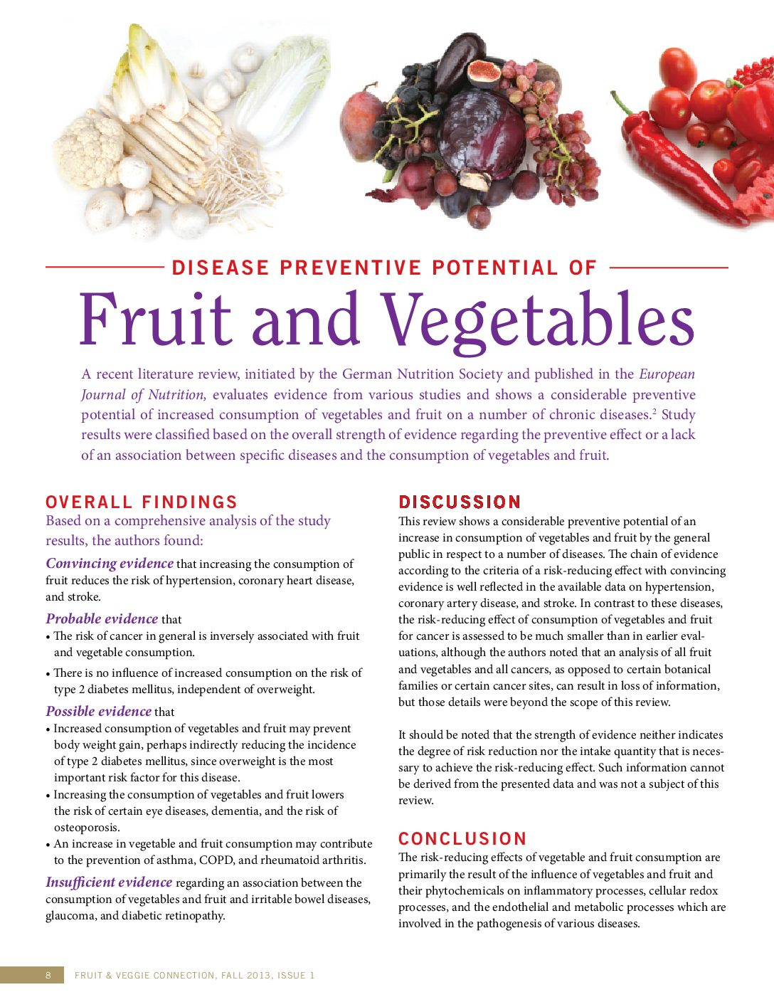 health benefits of fruits & vegetables: the science - have a