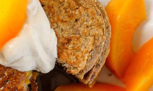 peach protein pancakes