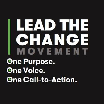 lead the change - logo lockup